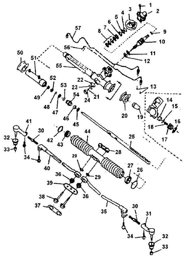 Регулировка рулевой рейки нексия своими руками
